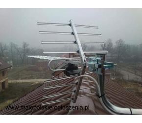 24h/7 Montaż ustawianie anten serwis Niepołomice i okolice tel 796-123-120